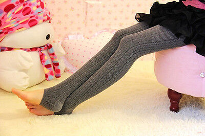 Women Winter Cable Knit Sweater Footed Tights Warm Stretch Stockings Pantyhose j 8