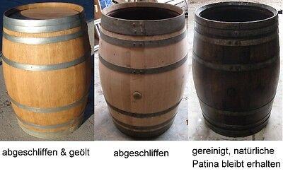 Regentonne Wasserfass 320L Holzfass Weinfass Eichenfass Stehtisch für Weinkeller