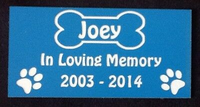 Personalised Pet Dog Memorial Plaque - Various Colours 4