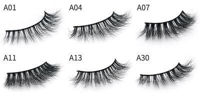 3D Mink Natural Thick False Fake Eyelashes handmade Lashes Makeup Extension 5