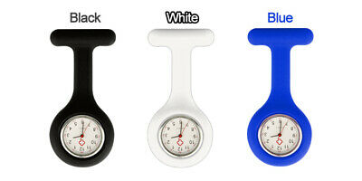 Silicone Nurse Brooch Tunic Fob Watch Nursing Nurses Pendant Pocket Watch 7