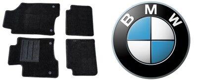 TAPPETINI BMW Serie 1 E87+E81 2004>2011 Tappeto TAPPETI COMPLETI MOQUETTE Ricamo 2