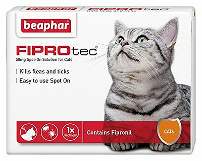 Beaphar FIPROtec Pipette for Cats 1 Treatment Pack 3