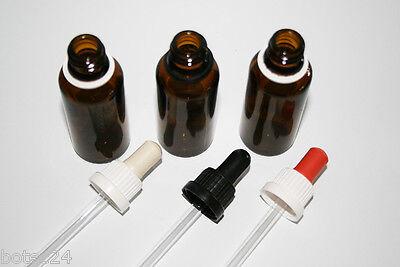 Pipettenflasche 30 ml braun 112 St. Originalitätsverschluss Sauger drei Farben 2