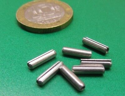 """Zinc Plate Steel Slotted Roll Spring Pin, 3/32"""" Dia x 3/8"""" Length,  500 pcs 3"""