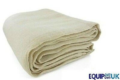 PREMIUM QUALITY HEAVY DUTY COTTON TWILL DUST SHEET 3.2m x 2.5m PROFESSIONAL