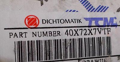 40MM X 52MM X 6MM TC VITON Metric Oil Seal Factory New!