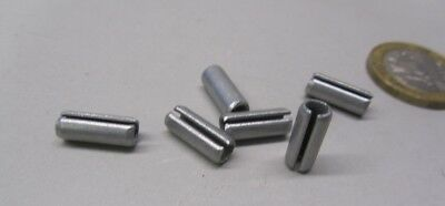 "Zinc Plate Steel Slotted Roll Spring Pin, 3/16"" Dia x 1/2"" Length, 250 pcs 9"