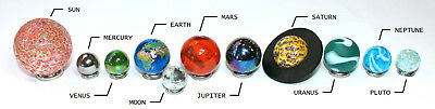 Solar System Model Marbles Glass Toy Planets Set - Orrery Space Science Gift 2