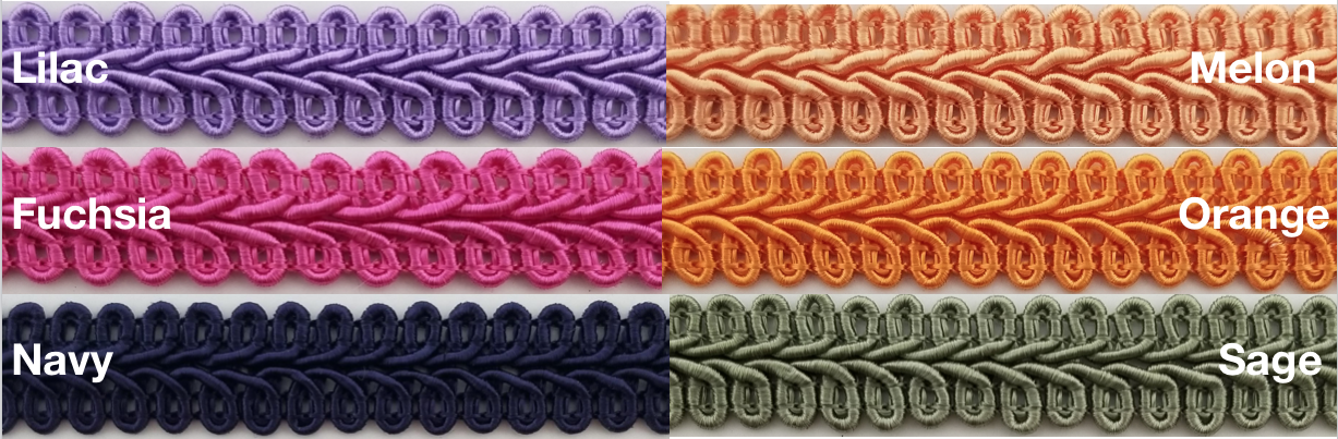 White 12 Continuous Yards Many Colors! 1//2 Chinese French Braid Gimp Trimming