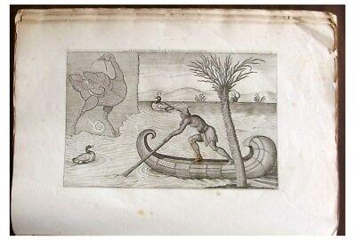 1858 Rare Early Treatise - PALESTRINA MOSAIC - ROSETTA STONE - Ancient Egypt