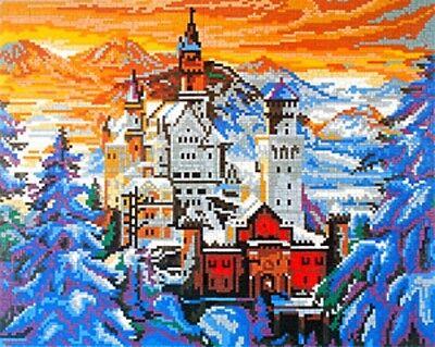 Mini Stecksystem Schloss Neuschwanstein im Winter ca. 10.500 Teile Nr. 41209