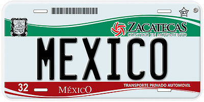 Zacatecas Mexico Any Name Number Novelty Auto Car License Plate C01 4