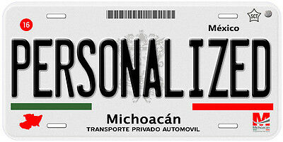 Michoacan Mexico Any Name Number Text Novelty Auto Car License Plate C03 4