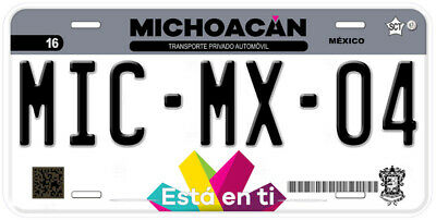 Michoacan Mexico Any Text Personalized Novelty Auto Car License Plate C04 4