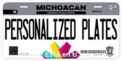 Michoacan Mexico Any Text Personalized Novelty Auto Car License Plate C04 3