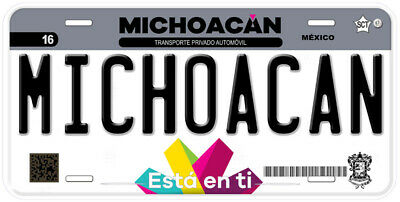 Michoacan Mexico Any Text Personalized Novelty Auto Car License Plate C04 5