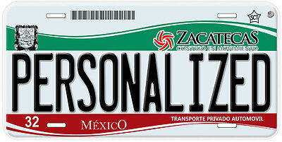 Zacatecas Mexico Any Name Number Novelty Auto Car License Plate C01 5