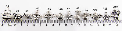 Lot 150Pcs Teapot #8 Antique Silver Charms Wine Pot Flask For DIY Making 3