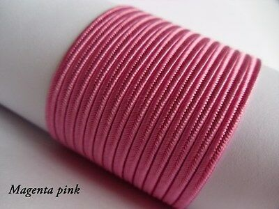 Soutache Braid Cord 6 colours x 1, 2 or 5 metres Shades of pink 100% viscose 3mm 4