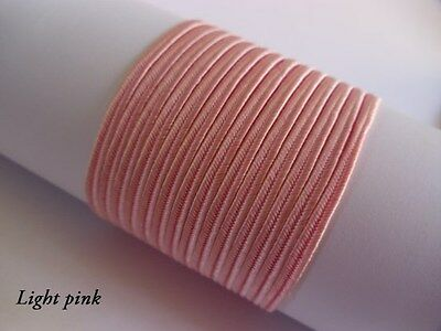 Soutache Braid Cord 6 colours x 1, 2 or 5 metres Shades of pink 100% viscose 3mm 3