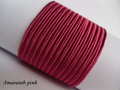 Soutache Braid Cord 6 colours x 1, 2 or 5 metres Shades of pink 100% viscose 3mm