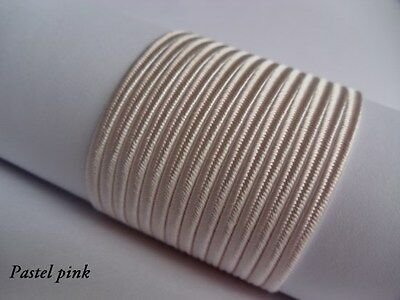 Soutache Braid Cord 6 colours x 1, 2 or 5 metres Shades of pink 100% viscose 3mm 2
