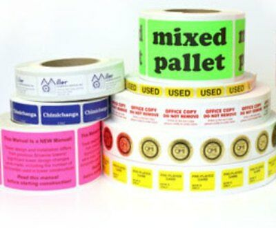 """Full Color Labels 1000 Custom Printed 2"""" Round White Stickers, delivered on roll"""