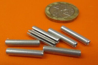 """Zinc Plate Steel, Slotted Roll Spring Pin, 1/8"""" Dia x 11/16"""" Length, 250 pcs 3"""