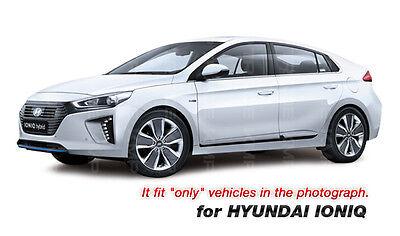 fit:2017-2020 Hyundai Ioniq 8Pc Chrome Pillar Post Trim Stainless Steel Cover