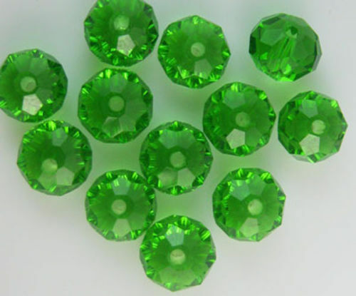 Wholesale Faceted 100pcs Rondelle glass crystal 4*6mm Beads U pick colors 8