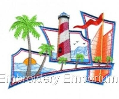 SEASIDE FRIENDS COLLECTION MACHINE EMBROIDERY DESIGNS ON CD OR USB