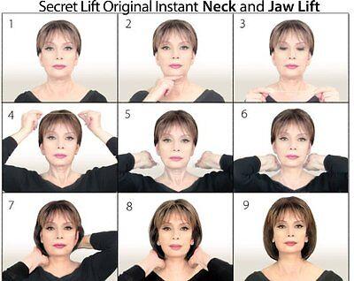 Instant Face, Neck and Eye Lift (Light Hair) Facelift Tapes & Bands Secret Lift 4