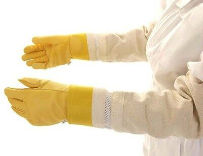 Childrens gold ventilated beekeeping Gloves (large and Small) 2