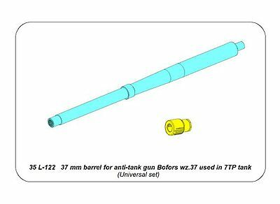 37 mm Bofors Gun Barrel for 7 TP Stridsvagn M//38 VICKERS 6 T #35L279 Aber