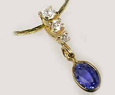 19thC Antique 1ct+ Sapphire Medieval Ecclesiastical Gem Healing Amulet 14kt Gold