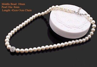 Bridesmaid Jewelry Set, Wedding Jewellery, Pearls, Necklace, Bracelet Earrings 4