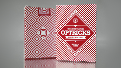 Optricks Red Animated Playing Cards Poker Size Deck USPCC Custom Limited Sealed 6