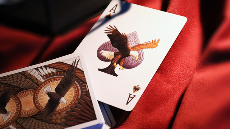 Bald Eagle Bicycle Playing Cards with Numbered Seal Poker Size Deck USPCC Custom