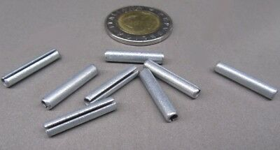 """Zinc Plate Slotted Roll Spring Pin, 9/64"""" Dia x 3/4"""" Length, 100 pcs 4"""