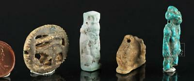 Quartet of Ancient Egyptian Faience Amulets Lot 2A
