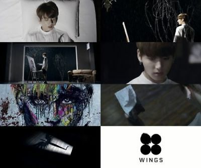 US SHIPPING BTS-[Wings}2nd Album Random CD+96p PhotoBook+1p PhotoCard 7
