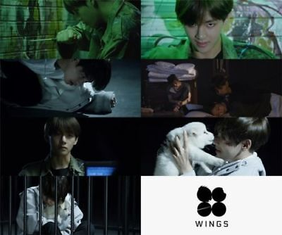 US SHIPPING BTS-[Wings}2nd Album Random CD+96p PhotoBook+1p PhotoCard+Store Gift 6
