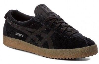 Boys Onitsuka Tiger Mexico Delegation Black trainers Sneakers shoes Size UK 3.5 2
