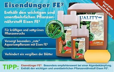 (16,--€/l)AQUALITY Eisendünger FE²  500ml Aquarium Volldünger sattgrüne Pflanzen 2