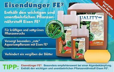 (16,00€/l) AQUALITY Eisendünger FE² 500 ml Hochwertiger Aquarium Pflanzendünger 2
