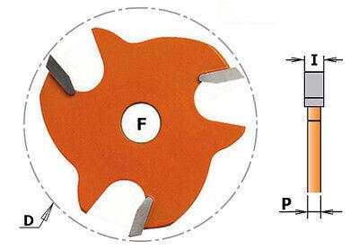 CMT HM Scheibennutfräser mit Dorn und Anlaufring, Schnittbreite 1,5-6mm, S=8mm