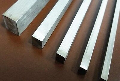 6 x 6 x 250mm Metal square Rod Titanium Ti Grade 2 Gr.2 GR2