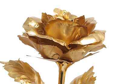 Blau Goldene Rose mit Gravur Muttertag Namenstag Geburtstag EWIGE LIEBE Geschenk