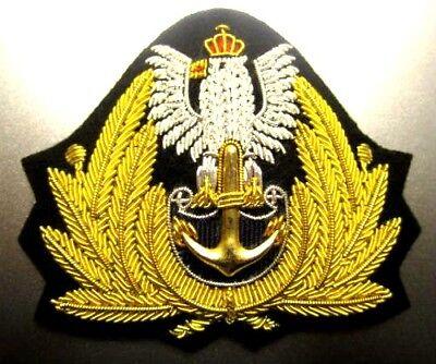NEW ROYAL NAVY AIR SERVICE R.N.A.S OFFICER Bullion Badge KING CROWN CP MADE